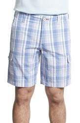 Men's Tommy Bahama 'Queensland Isles' Plaid Cargo Shorts Bengal Blue