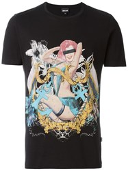Just Cavalli Pinup Print T Shirt Black