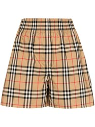 Burberry Vintage Check Shorts Brown