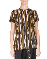 Proenza Schouler Ikat Striped Cotton T Shirt Multi Pattern