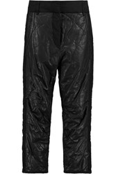 Isabel Marant Camil Twill Paneled Quilted Leather Boyfriend Pants