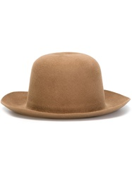 Isabel Benenato Bowler Hat Nude And Neutrals