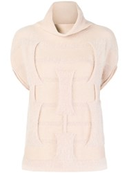 Cruciani Roll Neck Knit Jumper Nude And Neutrals