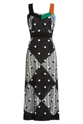 Marco De Vincenzo Midi Dress With Lace Multicolor