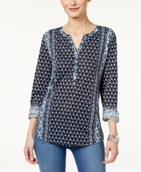 Styleandco. Style Co. Mixed Print Peasant Top Only At Macy's Folk Stillwater
