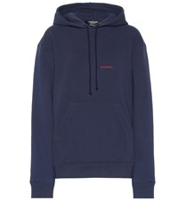 Calvin Klein 205W39nyc Embroidered Cotton Hoodie Blue