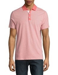 Perry Ellis Textured Performance Polo Spiced Coral