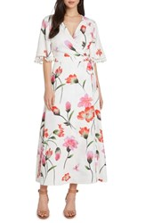 Willow And Clay Print Wrap Maxi Dress Vellum