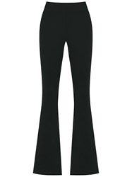 Cecilia Prado Knit Flare Trousers Women Acrylic Lurex Viscose Pp Black
