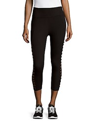 Betsey Johnson Solid Cropped Leggings Black