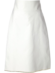 Thakoon High Waisted A Line Skirt Nude And Neutrals