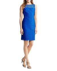 Ralph Lauren Circle Pattern Dress La Mer Blue Suntan