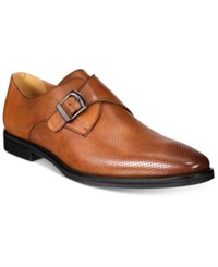 Alfani Men's Rowan Perforated Monk Strap Oxfords Only At Macy's Men's Shoes Tan
