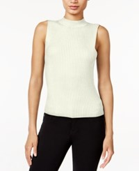 Bar Iii Sleeveless Mock Turtleneck Sweater Only At Macy's Vintage Cream