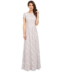 Donna Morgan Alice Cap Sleeve Dress Platinum Women's Dress Silver