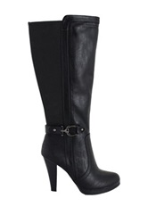 Intaglia Vancouver Wide Calf Dress Boot Black