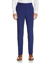 Canali Regular Fit Travel Trousers Bright Blue