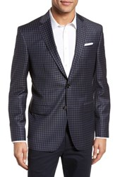 Ted Baker London Jay Trim Fit Check Wool Sport Coat Black