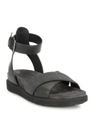 Brunello Cucinelli Monili And Leather Crisscross Ankle Strap Sandals Graphite