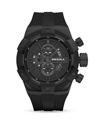 Brera Orologi Supersportivo Black Ionic Plated Stainless Steel Watch With Black Rubber Strap 48Mm