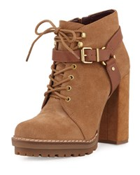 Bcbgeneration Henrik Lace Up Suede Platform Bootie Brown