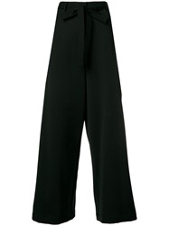 Hache Belted Wide Leg Trousers Black