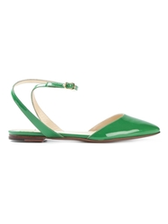 L'autre Chose Pointed Toe Sandals Green