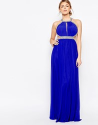 Forever Unique Maxi Dress With Embellishment Sax Blue