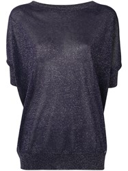 Fay Glitter Knitted Top Blue