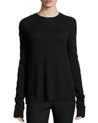 The Row Shayna Long Sleeve Cashmere Sweater Black