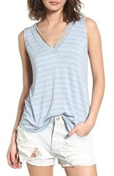 Lush Women's Strap Neck Stripe Tank