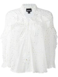 Just Cavalli Dotted Print Blouse White