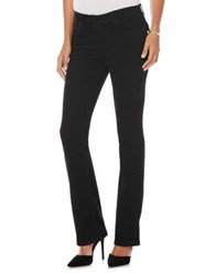 Rafaella Slim Fit Bootcut Stretch Jeans Black