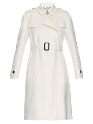 Burberry Tempsford Double Faced Cashmere Coat White