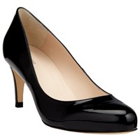 John Lewis Arna Round Toe Court Shoes Black Patent