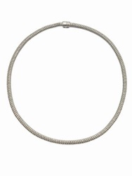 John Hardy Classic Chain Diamond And Sterling Silver Extra Small Necklace 18