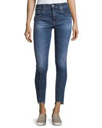 Ag Adriano Goldschmied The Farrah Ankle High Rise Skinny Jeans Indigo
