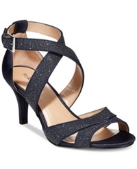Styleandco. Style And Co. Pravati Strappy Evening Sandals Women's Shoes Ink Navy