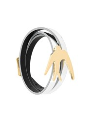 Mcq By Alexander Mcqueen Bird Wrap Bracelet Metallic