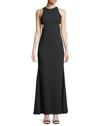 Fame And Partners The Midheaven Cutout Georgette Gown Black