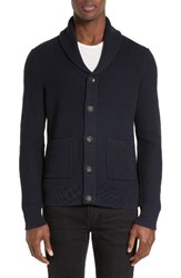 Rag And Bone Men's Standard Issue 'Avery' Shawl Collar Cardigan Navy