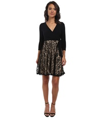 Alejandra Sky Alexia Lace Bottom Dress Black Nude Women's Dress Multi