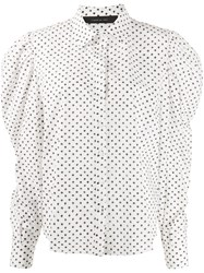 Federica Tosi Dotted Puff Sleeves Shirt 60