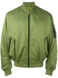 Versace Medusa Plaque Bomber Jacket Green