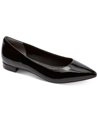Rockport Women's Adelyn Pointed Toe Flats Women's Shoes Black Patent