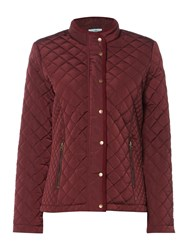 Dickins And Jones Quilted Jacket Burgundy