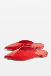 Topshop Alice Pointed Mules Red