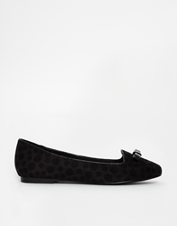 Chocolate Schubar Christie Flat Shoes Black