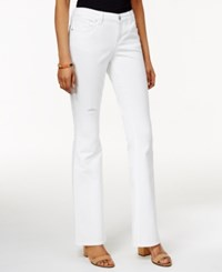 Styleandco. Style And Co. Ripped White Wash Curvy Fit Flared Jeans Only At Macy's Bright White