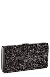 Natasha Couture Crystal Clutch Black